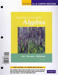 Beginning and Intermediate Algebra, Books a la Carte Plus MML/Msl Student Access Code Card (for Ad Hoc Valuepacks)