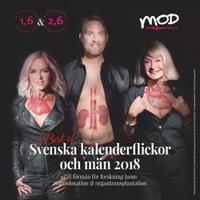 Svenska Kalenderflickor & Män 2018