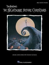 Tim Burton's the Nightmare Before Christmas: Big-Note Piano