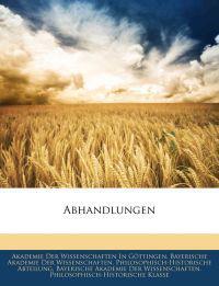 Abhandlungen der könlichen Gesellschaft der Wissenschaften zu Göttingen, Neunzehnter Band