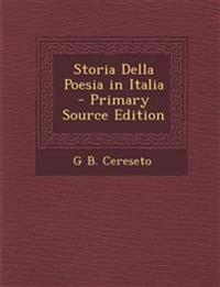 Storia Della Poesia in Italia