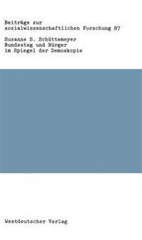 Bundestag Und Bürger Im Spiegel Der Demoskopie