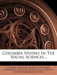 Columbia Studies In The Social Sciences...