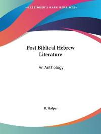 Post Biblical Hebrew Literature