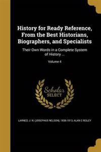 HIST FOR READY REF FROM THE BE