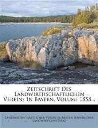 Zeitschrift des landwirthschaftlichen Vereins in Bayern, Achtundvierzigster Jahrgang