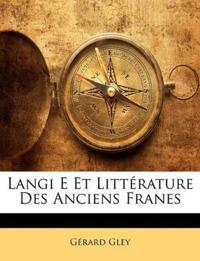 Langi E Et Littérature Des Anciens Franes