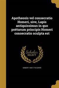 LAT-APOTHEOSIS VEL CONSECRATIO
