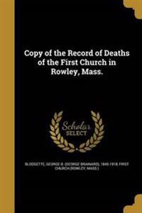 COPY OF THE RECORD OF DEATHS O