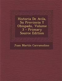 Historia de Avila, Su Provincia y Obispado, Volume 3