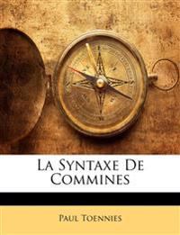 La Syntaxe De Commines