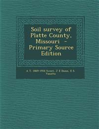 Soil survey of Platte County, Missouri