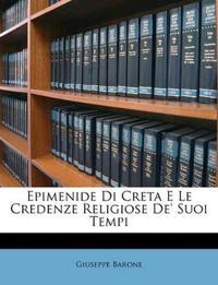 Epimenide Di Creta E Le Credenze Religiose De' Suoi Tempi