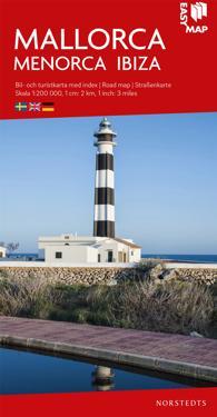 Mallorca Menorca Ibiza EasyMap : Skala 1:200.000