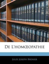 De L'homœopathie