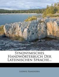 Synonymisches Handwörterbuch Der Lateinischen Sprache...