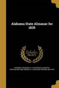 ALABAMA STATE ALMANAC FOR 1839