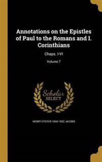 ANNOTATIONS ON THE EPISTLES OF
