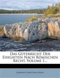Das Güterrecht Der Ehegatten Nach Römischen Recht, Volume 1...