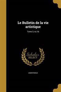 FRE-BULLETIN DE LA VIE ARTISTI