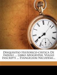 Disquisitio Historico-Critica de Indole ... Libro Apogryphi, Vulgo Inscripti ... Evangelium Nicodemi...