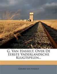 G. Van Hasselt, Over De Eerste Vaderlandsche Klugtspelen...