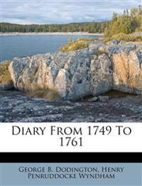 Diary From 1749 To 1761