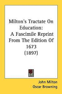 Milton's Tractate on Education