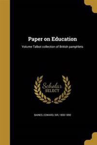 PAPER ON EDUCATION VOLUME TALB