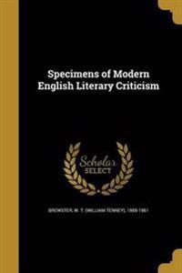 SPECIMENS OF MODERN ENGLISH LI