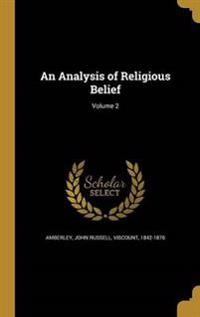 ANALYSIS OF RELIGIOUS BELIEF V