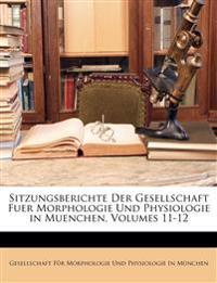 Sitzungsberichte der Gesellschaft fuer Morphologie und Physiologie in Muenchen, XI. Band