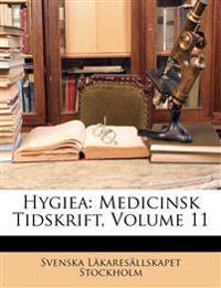 Hygiea: Medicinsk Tidskrift, Volume 11