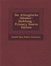 Die Altenglische Odoaker-Dichtung - Primary Source Edition