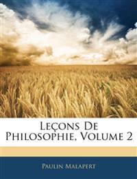 Lecons de Philosophie, Volume 2