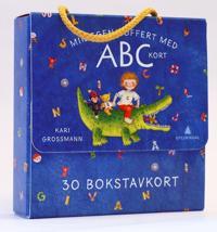 Min egen koffert med ABC-kort; 30 bokstavkort