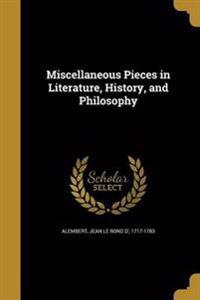 MISC PIECES IN LITERATURE HIST