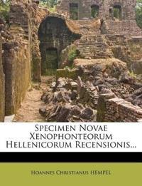 Specimen Novae Xenophonteorum Hellenicorum Recensionis...