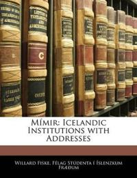 Mímir: Icelandic Institutions with Addresses