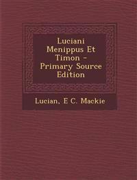 Luciani Menippus Et Timon