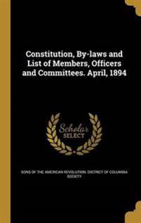 CONSTITUTION BY-LAWS & LIST OF