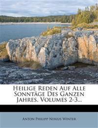 Heilige Reden Auf Alle Sonntäge Des Ganzen Jahres, Volumes 2-3...