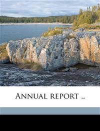 Annual report .. Volume 1927-28