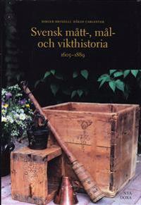 Svensk mått-, mål- och vikthistoria