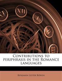 Contributions to periphrasis in the Romance languages