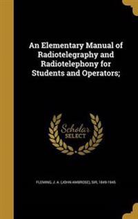 ELEM MANUAL OF RADIOTELEGRAPHY