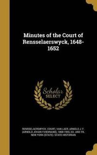 MINUTES OF THE COURT OF RENSSE