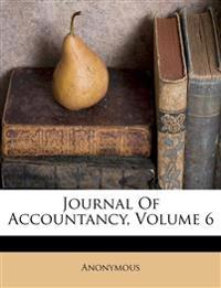 Journal Of Accountancy, Volume 6
