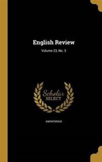 ENGLISH REVIEW V23 NO 3