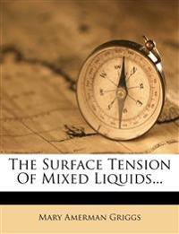The Surface Tension Of Mixed Liquids...